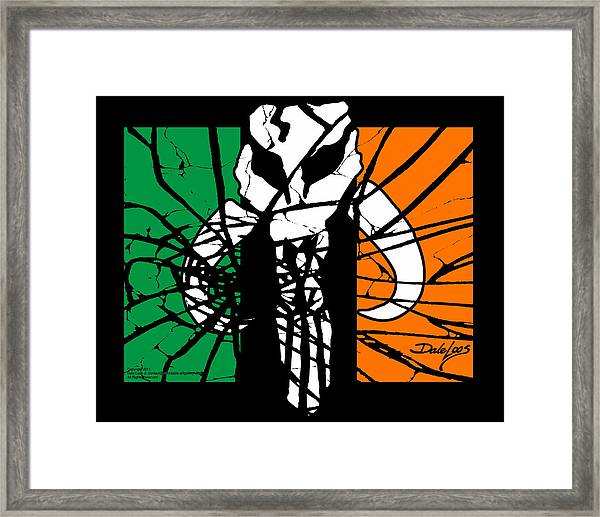 Irish Mandalorian Flag Framed Print