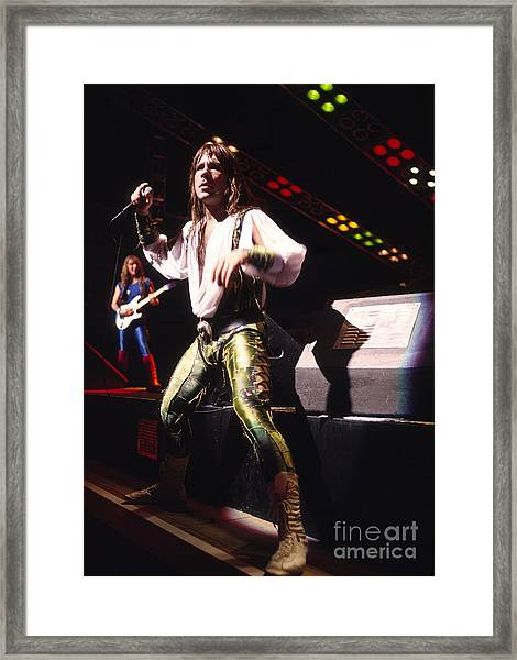 Iron Maiden 1987 Bruce Dickinson Framed Print