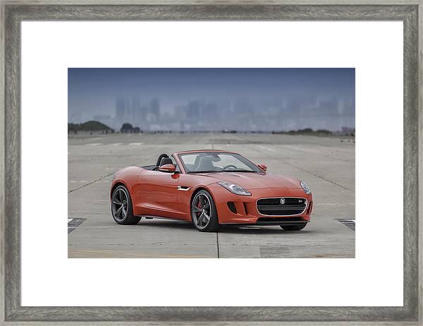 Jaguar F-type Convertible Framed Print