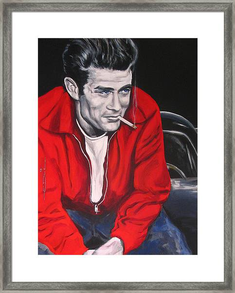 James Dean Put His Picture In A Picture Show Framed Print