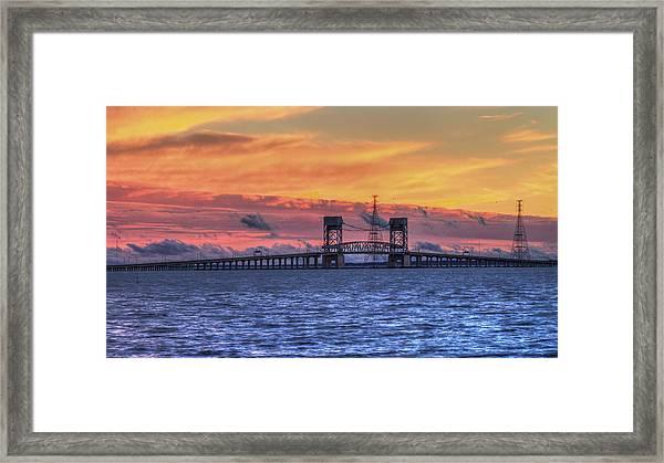 James River Bridge Framed Print