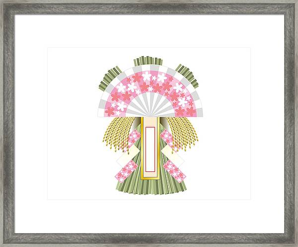 Japanese Newyear Decoration Framed Print