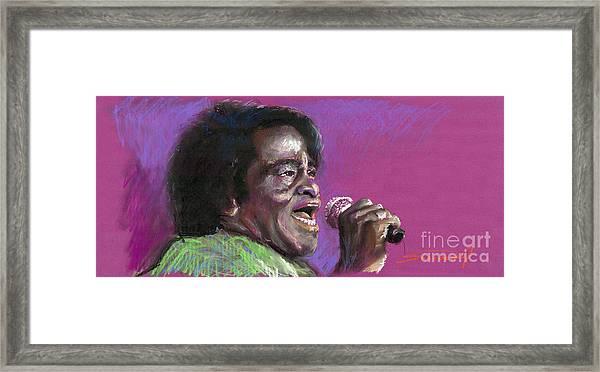 Jazz. James Brown. Framed Print