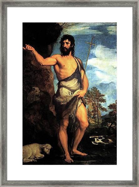 John The Baptist Framed Print