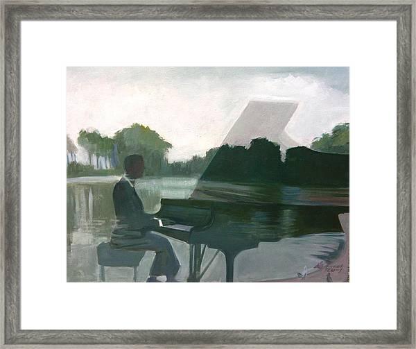 Justin Levitt Steinway Piano Spreckles Lake Framed Print