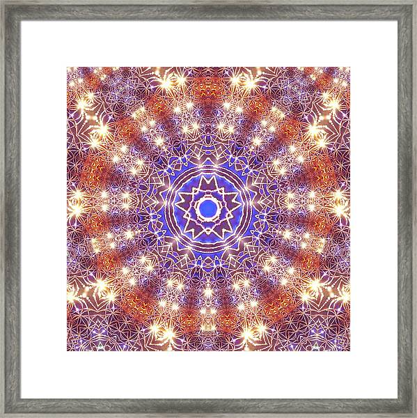 Framed Print featuring the digital art Jyoti Ahau 10 by Robert Thalmeier