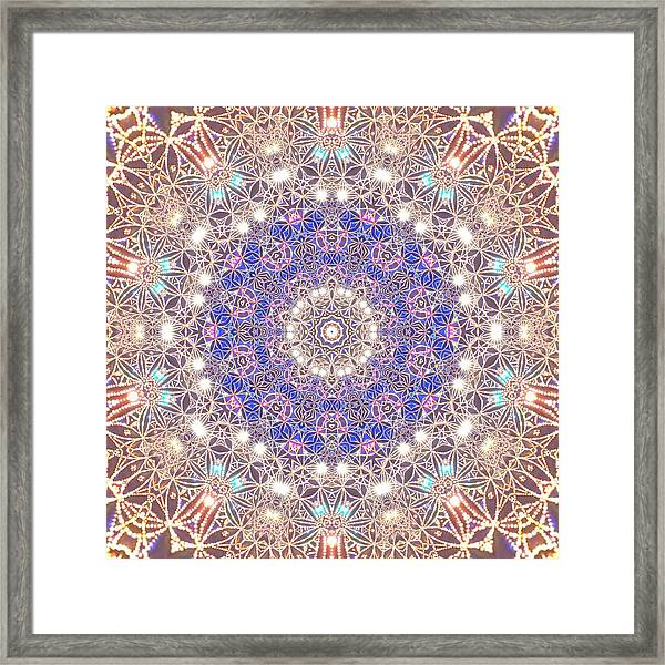Framed Print featuring the digital art Jyoti Ahau 8 by Robert Thalmeier