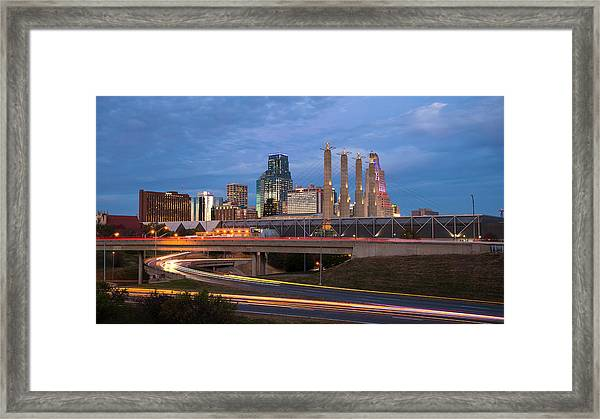 Kansas City Skyline  Framed Print
