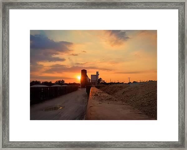 Katy Texas Sunset Framed Print