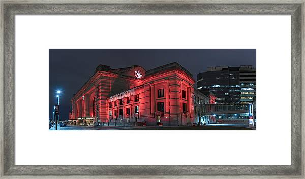 Kc Red Framed Print