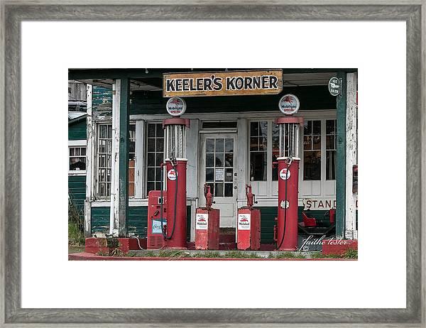 Keeler's Korner Iv Framed Print