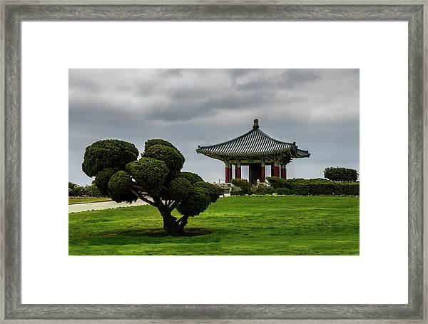 Korean Bell Of Friendship Framed Print