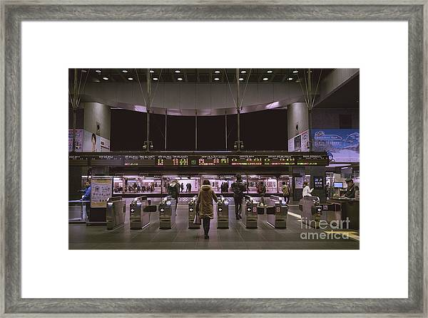 Kyoto Train Station, Japan Framed Print