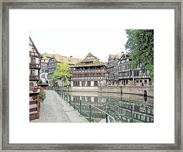 La Petite France Strasbourg France Color Pencil Framed Print