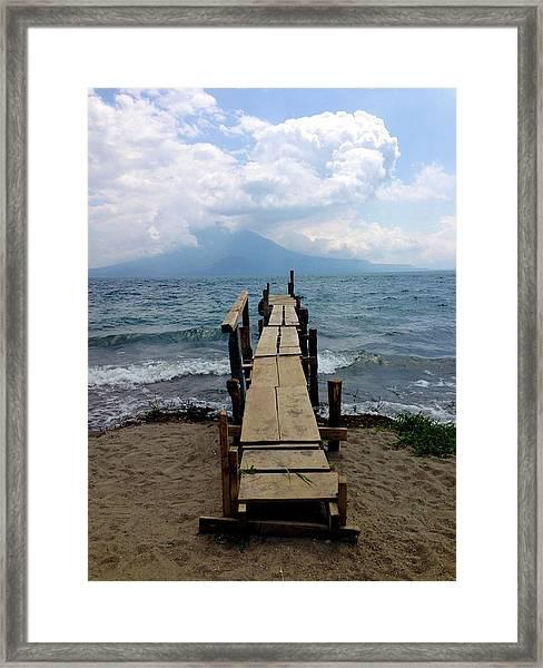 Lake Atitlan Dock Framed Print