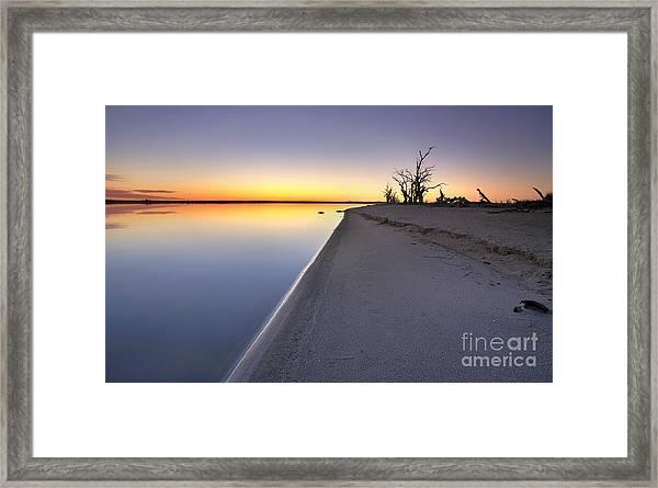 Lake Bonney Sunrise Barmera Riverland South Australia Framed Print