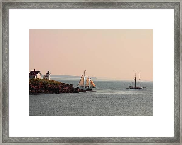 Leaving Camden Harbor Framed Print