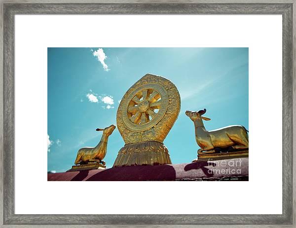 Lhasa Jokhang Temple Fragment Tibet Framed Print