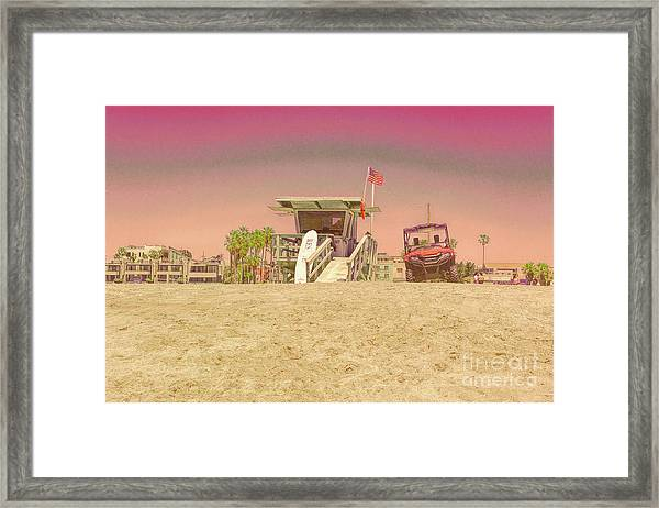 Lifeguard Tower 3 Framed Print