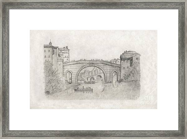 Liverpool Bridge Framed Print
