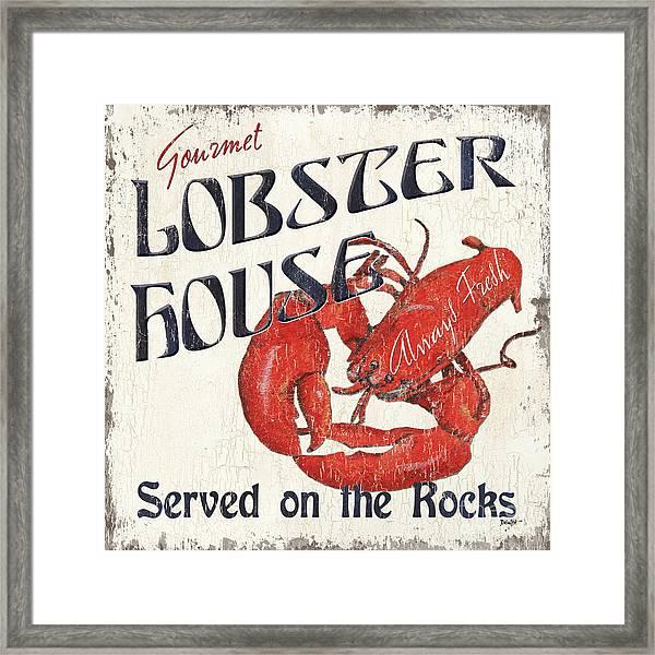 Lobster House Framed Print