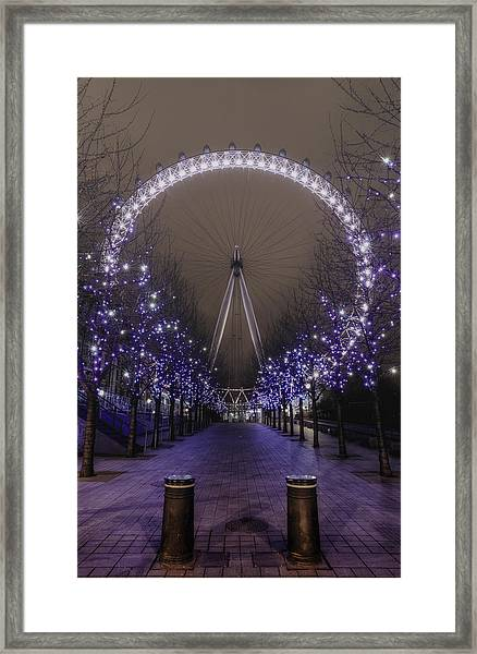 London Eye Framed Print by Lee-Anne Rafferty-Evans