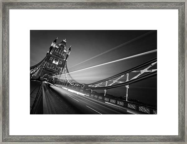 London Tower Bridge Framed Print by Nina Papiorek