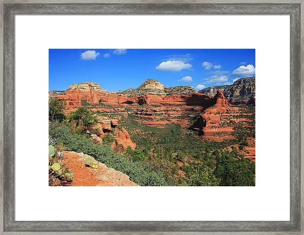 Long Canyon Morning Framed Print