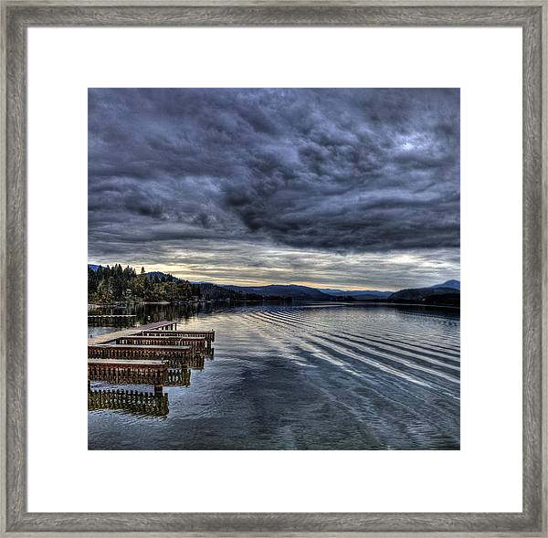 Looking West From 41 South Framed Print