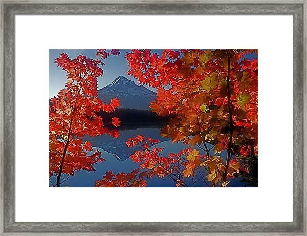 Lost Lake Autumn Framed Print