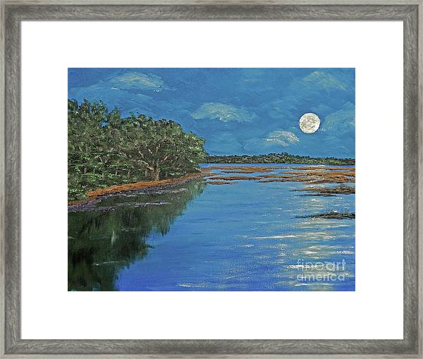 Lowcountry Moon Framed Print