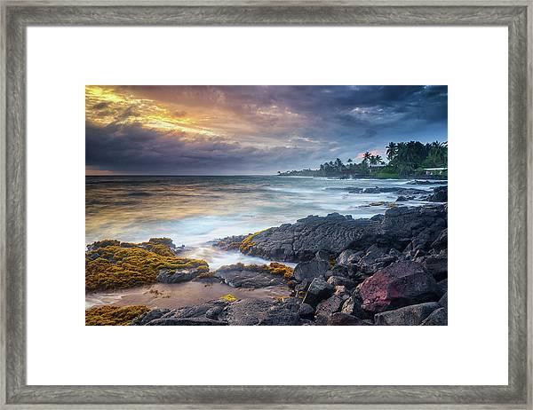 Lyman's Sunset Framed Print
