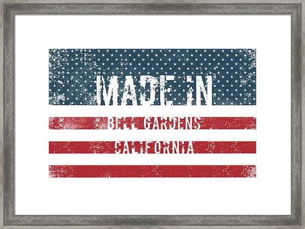 Made In Bell Gardens, California Framed Print