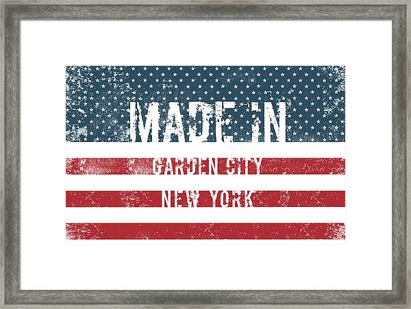Made In Garden City, New York Framed Print