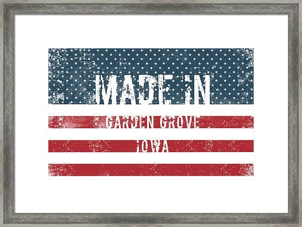 Made In Garden Grove, Iowa Framed Print