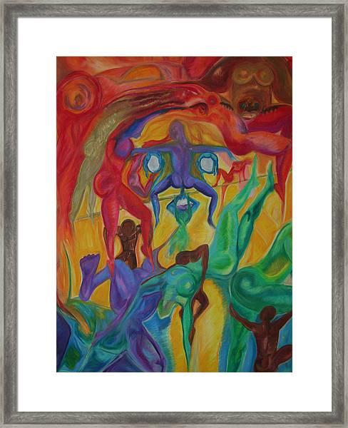 Mann I The Middle Framed Print
