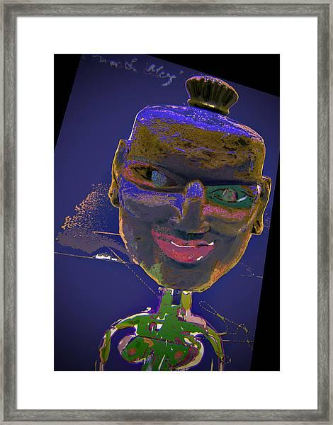 Mask 16 Framed Print by Noredin Morgan