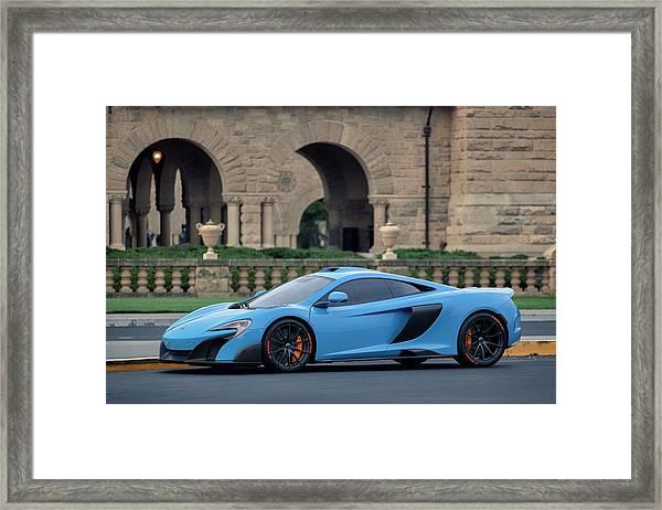#mclaren #675lt With #pirelli #tires Framed Print