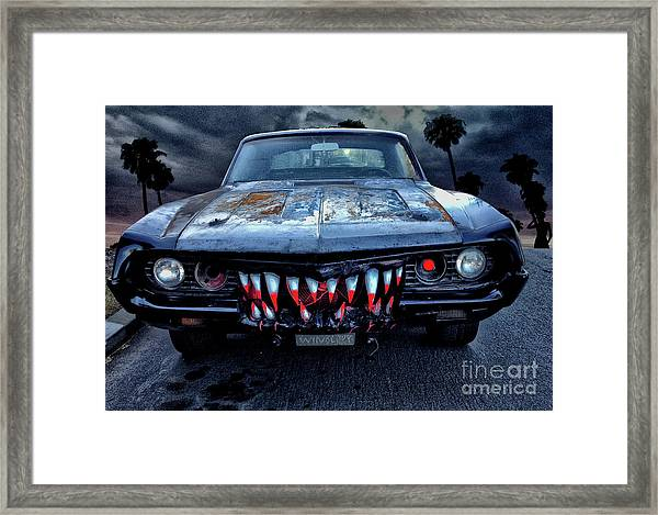 Mean Streets Of Belmont Heights Framed Print