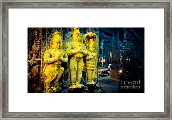 Framed Print featuring the photograph Meenakshi Temple Madurai India by Raimond Klavins