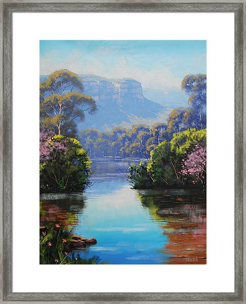 Megalong Creek Framed Print