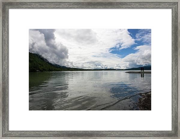 Mendenhall Lake Framed Print