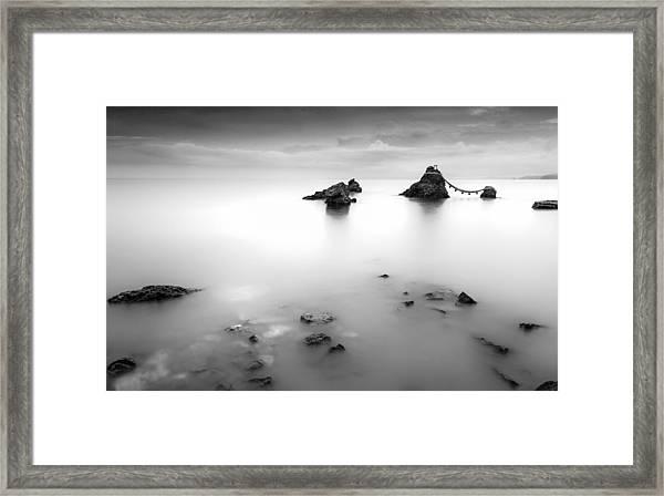 Meoto Iwa Framed Print