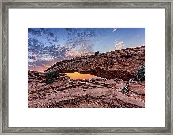 Mesa Arch At Sunrise Framed Print