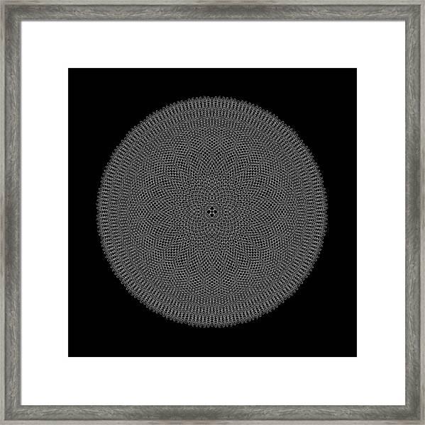 Metallic Mesh Mandala Ia Framed Print