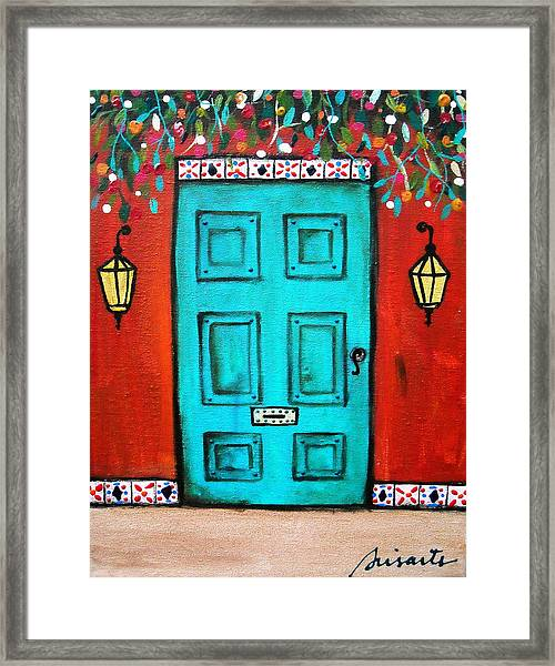 Mexican Door Painting Framed Print