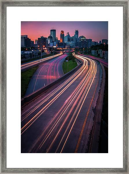 Minneapolis In Motion Framed Print