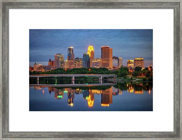 Minneapolis Twilight Framed Print