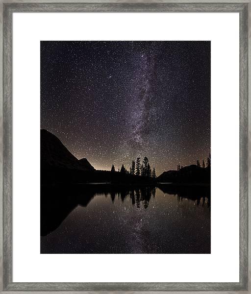 Mirror Lake Milky Way Framed Print