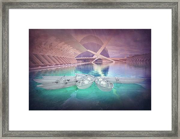 Modern Architecture Valencia Spain  Framed Print